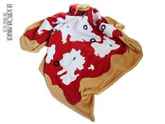 Food Blanket - Italian style Pizza - Soft blanket - Decorative soft plaid suitable for single bed by La Scatola Magica