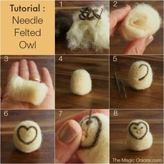 Needle Felted Owl Tutorial DIY - The Magic Onions.com