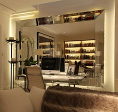 Be inspired by how John Cullen can help with your home office lighting with a range of products ideal for use throughout your home. Library Lighting, Home Office Lighting, Interior Lighting, Interior Styling, Lighting Design, Lighting Ideas, Light Architecture, Interior Design Inspiration, Sweet Home
