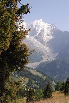 Alpine Glacier, Mont Blanc, French Alps,