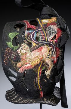 Kay Khan is a studio artist who has lived in Santa Fe, New Mexico since She is currently exploring textiles in the form of vessels and armour. Sculpture Textile, Sculpture Painting, Textiles, Textile Artists, Fabric Decor, Urban Art, Textile Design, Female Art, Fiber Art