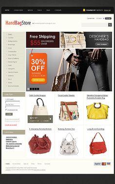 Handbag Boutique VirtueMart Templates by Delta