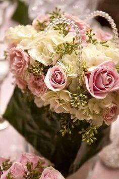 .floral basket.