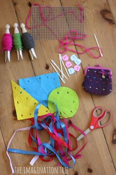 A first sewing kit for kids with some good ideas from The Imagination Tree
