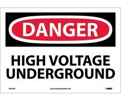 Danger, HIGH VOLTAGE UNDERGROUND, 10X14, PS Vinyl