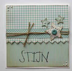 Babykaart met sterren