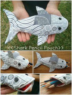 El #quilt puede usarse en muchas cosas, este tiburón lapicera es un claro ejemplo #yolohice #Singer
