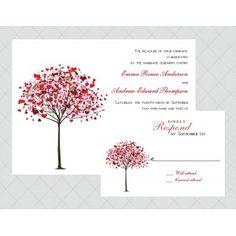 Tree Wedding Invitations - Style 501