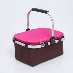 Portable Insulated Folding Picnic Basket Thicken Waterproof Fresh Keeping Oxford Colth Cooler Bag Lunch Insulation Bags Ice Pack