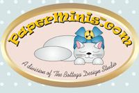 Paper Minis: doll and dollhouse pre-printed, easy-to-make, do-it-yourself (DIY) kits available in many scales.