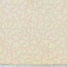 Pink Leaf on Cream Cotton Calico Fabric | Hobby Lobby