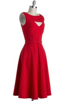 Bettie Page The Evening Unfolds Dress in Red   Mod Retro Vintage Dresses   ModCloth.com