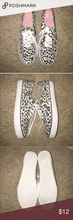 Leopard Printed Sneaker ✨PRICED TO SELL✨ Never worn black and white leopard printed slip on sneaker. Can be bundled with other items for a discount. Mossimo Supply Co Shoes Sneakers