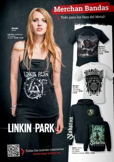 Merchandise Bandas Mujer #Rockeras  Miss may i #LinkinPark #Sabaton y mas... EMP Online España Catálogo Verano 2014 • Tienda Rock  Heavy Metal Gotica y Alternativa Musica