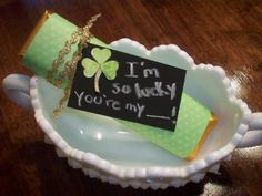DIY :: St. Patrick's Day I'm so LUCKY gold bar - costs only a few dollars and is so cute! http://www.stockpilingmoms.com/2012/03/diy-st-patricks-day-im-so-lucky-gold-bar/