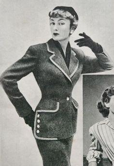 4ae3588f69f 60 beste afbeeldingen van vintage ladies  suits - Fashion pictures ...