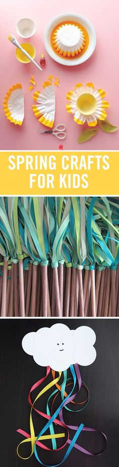 Spring is coming, and to help get your family in the warm weather mood, here are spring crafts and DIYs. Try your hand at a recycled paper bird nest, tin can lanterns, or simple DIY bird feeders. So many awesome kids crafts.