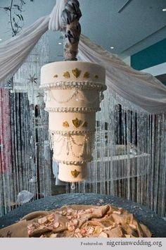 Chandelier Crystal Inspired Wedding Cake Ideas |