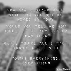 """""""Everything"""" by Lifehouse"""