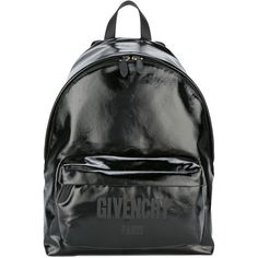 Givenchy logo print CI backpack (97.705 RUB) ❤ liked on Polyvore featuring men's fashion, men's bags, men's backpacks, black and mens leather backpack