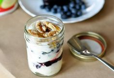 Make your own fruit on the bottom yogurt, minus all the added sugar. Perfect for busy mornings!