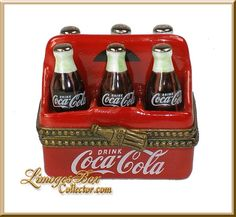 Limoges Boxes | Coca Cola 6-Pack Bottles Ultra Rare Limoges Box | LimogesBoxCollector.com