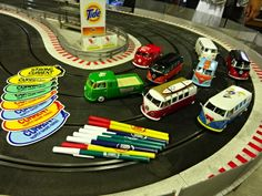 weve a vw camper slotcar race ! weve painted by ourselves:)