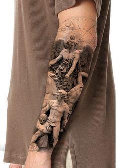 Cool Forearm Tattoos, Sexy Tattoos, Black Tattoos, Tatoos, Half Sleeve Tattoos Designs, Full Sleeve Tattoos, Small Tattoos For Guys, Different Tattoos, Religious Tattoo Sleeves