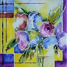 Petit format 11 (Painting), 20x20 cm par Véronique Piaser-Moyen, painted on canvas frame