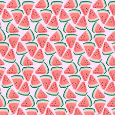 watermelons - small fabric by kristinnohe on Spoonflower - custom fabric