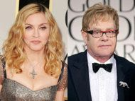 Madonna and Elton John are feuding? Had no clue. What are they fighting about? Who has the better British accent?