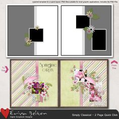 Simply Classical - 2 page Quick Click [DL-EB-T-SimplyClassical] - $3.99 : Digital Scrapbook Place, Inc. , High Quality Digital Scrapbook Graphics