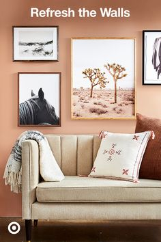 Make over your wall with a modern, boho or farmhouse gallery accent wall—perfect for living or dining rooms. Cream Living Rooms, Living Room Paint, My Living Room, Living Room Decor, Wallpaper Maker, Pattern Wallpaper, Wallpaper App, Wallpaper Paste, Living Room Turquoise