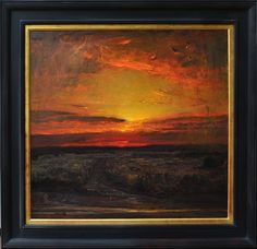 "Monsoon Sunset by Gordon Brown 36"" x 38"" oil Meyer Gallery"