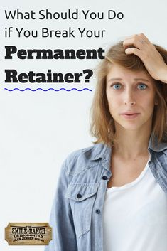 If your permanent retainer has broken, you'll want to go to your orthodontist to get it fixed as soon as you can. If you find that your permanent retainer has broken in some way, here's what you should do immediately. Permanent Retainer, Braces Retainer, Orthodontics, Teeth, Take That, Tips, Women, Tooth
