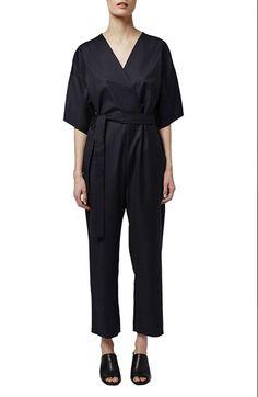Topshop Boutique Wool Kimono Wrap Jumpsuit