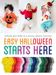 Keep baby cozy this Halloween in Primary's Long Sleeve Babysuit. In 23 vibrant colors, our Long Sleeve Babysuit is perfect for baby's DIY Halloween costume.  New friends save 20% with code PIN20PCT and FREE shipping always, with no minimum!