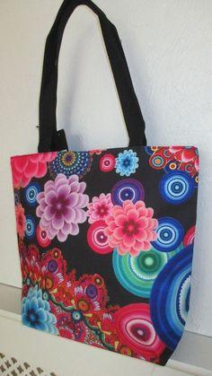 Tote bag-shoulder bag large hold-all retro floral Holiday-festival Retro Floral, Holiday Festival, Large Bags, Diaper Bag, Cool Things To Buy, Shoulder Bag, Colour, Tote Bag, Flower