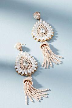 Pearl Tassel Drop Earrings