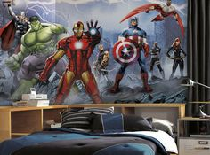 Avengers Assemble Giant XL Mural 6.5 x 10 Feet - Wall Sticker Outlet