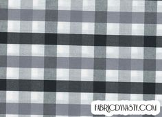 Fabric is 100% Cotton in Plain weave, it is yarn dyed check fabric, check colors are Black and White.