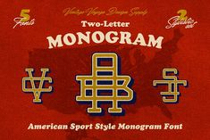 Two-Letter Monogram  by Vintage Voyage Design Co. on @creativemarket