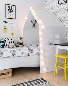 A modern monochrome look for your kids room. You would like to create a modern monochrome style for your kids bedroom ? Today, we would like to share with you a collection of monochrome kids bedrooms.