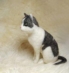 Needle Felted Cat (willane) Tags: felting felt needlecraft softsculpture needlefelted handmadeanimal willane feltedanimal needlefeltedcat handmadeanimalfelting