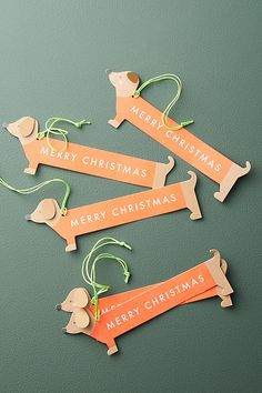 Slide View: 1: Dachsund Gift Tags