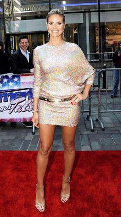 Heidi Klum in Talbot Runhof and Dolce  Gabbana at 'America's Got Talent' auditions