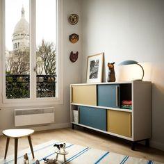 Une belle découverte après le passage à l'heure d'hiver du week-end dernier, les créations vintage de l'atelier français Rien à cirer. L'objectif de leur activité de rénovation est d'apporter une touche contemporaine aux meubles vintage. L'atelier a développé une magnifique gamme de meubles neufs, inspirée du design des années 50-60. Les créations sont fabriquées dans … Lire la suite » Kid Spaces, Small Spaces, Home Furniture, Furniture Design, Kids Decor, Home Decor, Baby Boy Rooms, Room Colors, Kids Bedroom