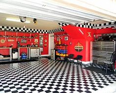 My husbands garage area.  We needed a proper space to park our 57 Chevy truck.  :)