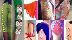 20 Latest Saree Blouse Back Neck Designs 2018 - ArtsyCraftsyDad Kurti Sleeves Design, Sleeves Designs For Dresses, Sleeve Designs, Blouse Back Neck Designs, Fancy Blouse Designs, Dress Designs, Kurta Designs, Choli Designs, Girls Frock Design