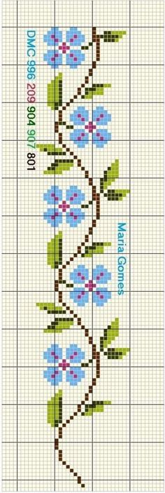Tiny Cross Stitch, Simple Cross Stitch, Cross Stitch Borders, Cross Stitch Flowers, Cross Stitch Designs, Cross Stitching, Cross Stitch Embroidery, Hand Embroidery, Cross Stitch Patterns